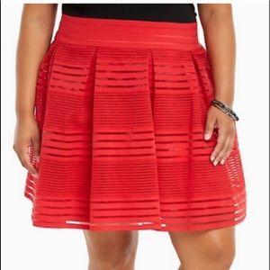 Torrid Red Mesh Skirt